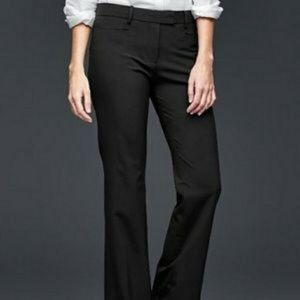 Gap stretch modern day flare black career pants